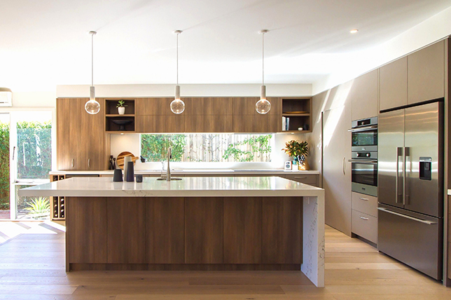 Edgebanding as part of the Material Mix in Kitchens
